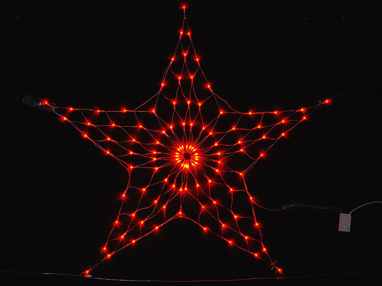 Red Five Star Led Net Lights